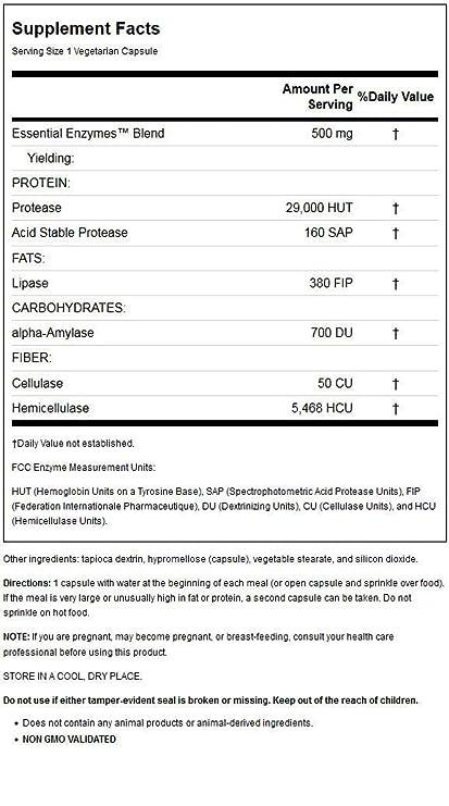 Source Naturals - Ayuda digestiva mg de las enzimas ...