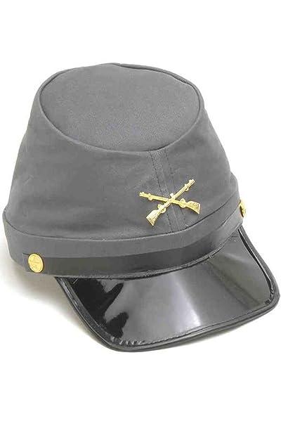 c9c4d15b544 Amazon.com  Military Civil War Confederate Soldier Kepi Hat Costume  Accessory  Clothing