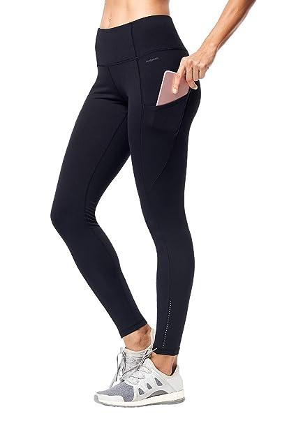 5c353309b Matymats Women s High Waist Yoga Pants with Side Pocket Tummy Control  Workout Running Leggings