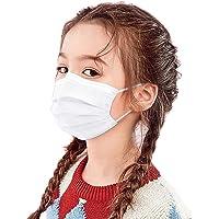 BeAcien 10PCS/20PCS/50PCS/100PCS Disposable Face Mask for Kids Non-woven 3Ply Solid Color Simple Half Face Cover Mask…