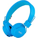 Wired Headphone for Kids SOLEMEMO Adjustable Over Ear Headphones Foldable Headsets with In-Line Control Detachable 3.5 Mm Audio Cable for Children Boys Girls Earphones for Smartphones PC Music Gaming Kids Headphones (Blue)