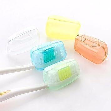 Bekia 5 piezas cepillo de dientes portátil de viaje para lavar cepillo Cap Caso Caja