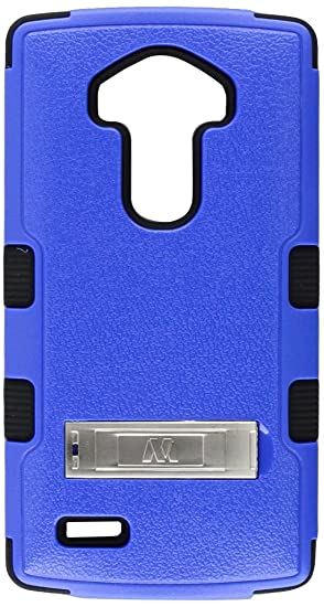 new arrival 07443 62412 Asmyna Carrying Case for LG G4 - Retail Packaging - Natural Dark Blue/Black