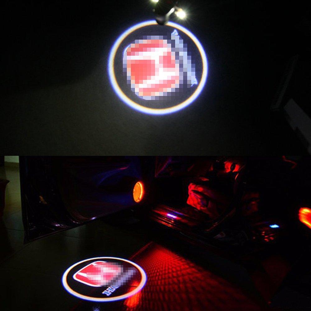 Honda Led Door Step Courtesy Logo Light Shadow Laser Projector Welcome Light For Honda 03-07 Accord Coupe Car Led Door Logo Light Honda Accord, Crosstour, Pilot 03-12 Accord Sedan,10-14 Crosstour
