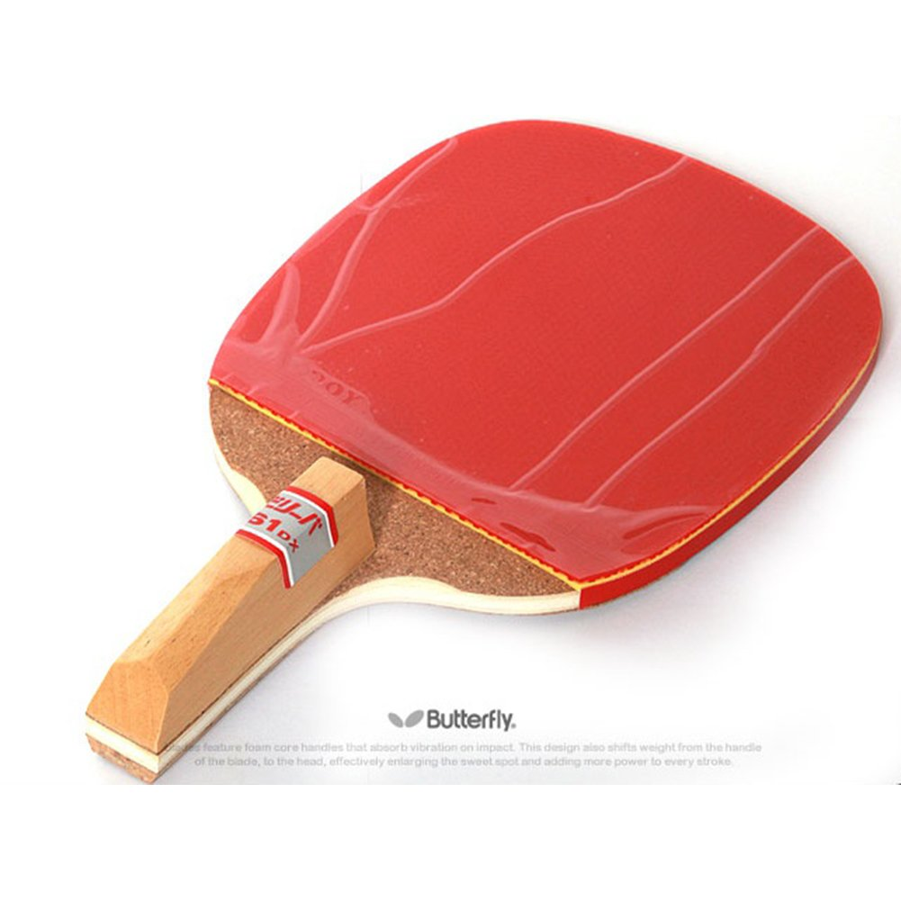 Amazon.com : Butterfly Biriba 61 Dx : Pen Holder Style(with Rubber) Table Tennis Racket : Sports & Outdoors