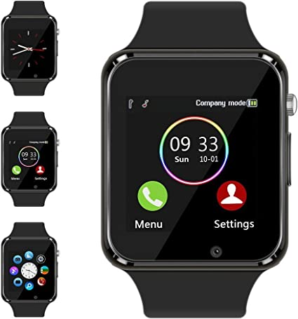 Aeifond Smart Watch - Fitness Tracker Watch Touchscreen Bluetooth Smartwatch Wrist Watch with Camera Pedometer SIM TF Card Slot Compatible Samsung ...