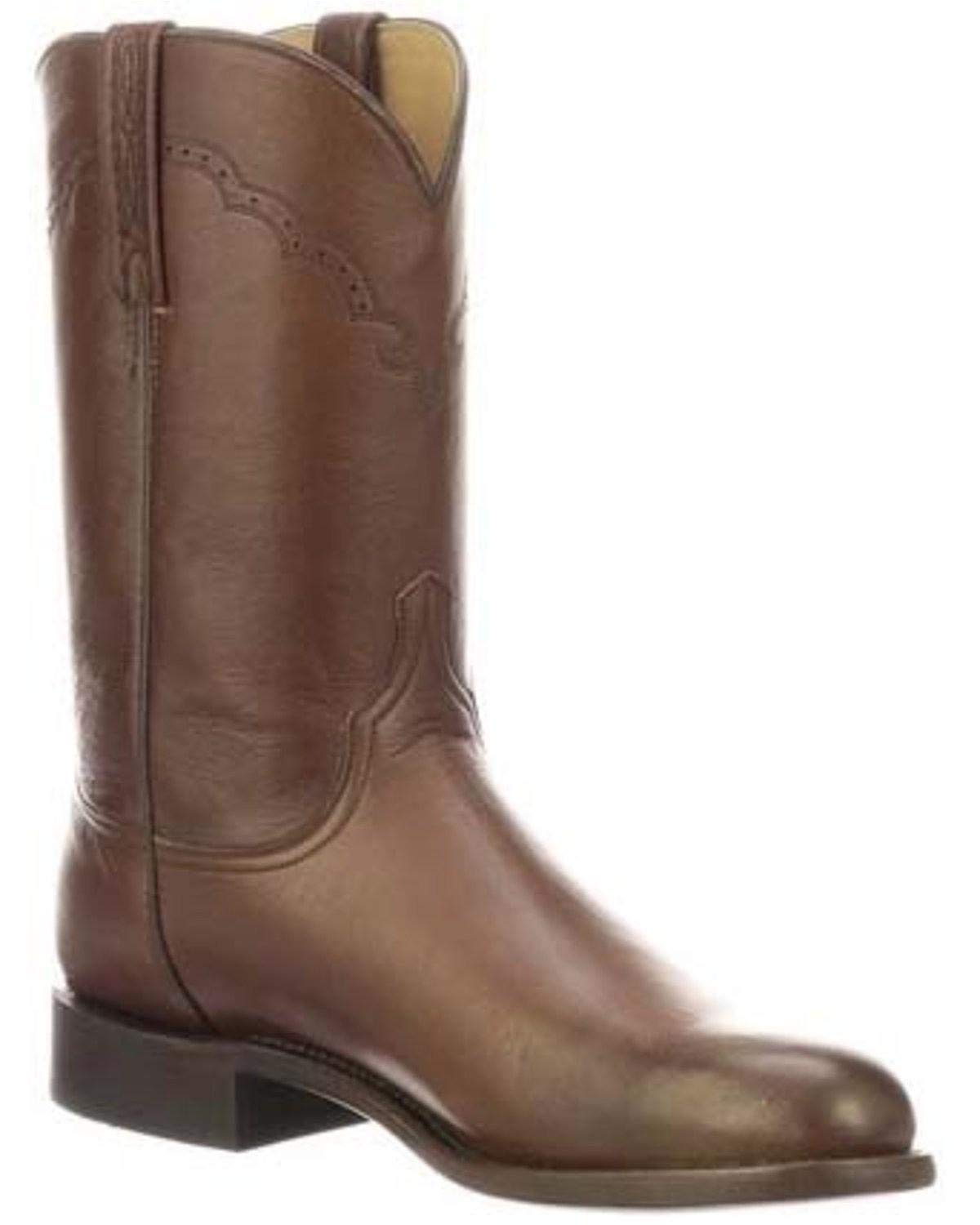 Lucchese Men's Lawrence Antique Brown 8.5 D US by Lucchese