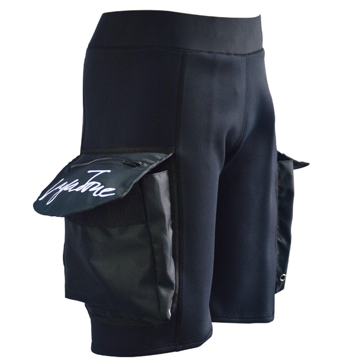 LayaTone Pantaloncini Muta Uomo Neoprene 3mm Pantaloni con Tasche per Immersioni subacquee Surfing Canoa Nuoto