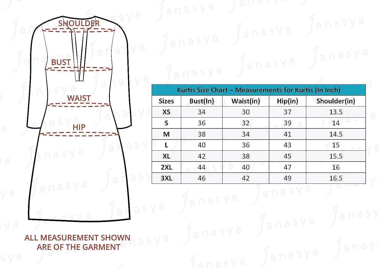 Janasya Indian Tunic Tops Cotton Kurti for Women