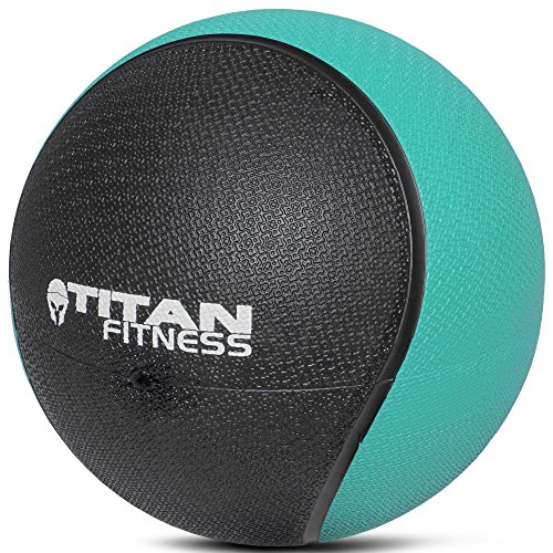 TITAN FITNESS Weighted Medicine Ball 8 lb Rubber Muscle Driver Sport Therapy WOD