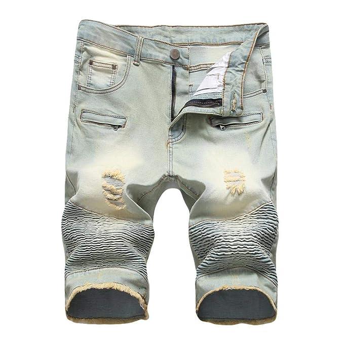 Pantalones Vaqueros De Los Hombres Pantalones Cortos De ...