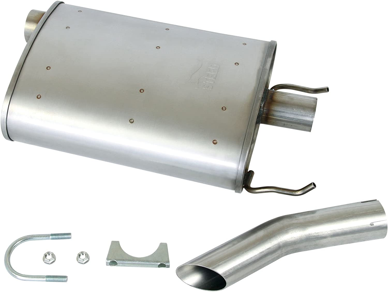Stainless Steel SS Quiet-Flow Combination Muffler Exhaust,HAIHUA for 00-05 Chevy Impala /& 00-05 Chevy Monte Carlo