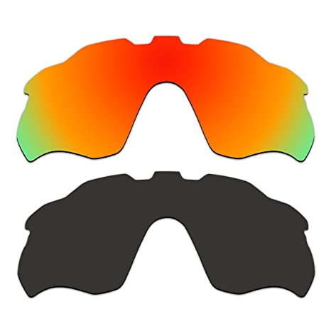 693d740108a Amazon.com   ACOMPATIBLE 2 Pair Replacement Polarized Vented Lenses for Oakley  Radar Pace Sunglasses OO9333 Pack P1   Sports   Outdoors