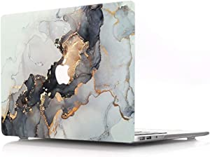 "ACJYX Case for MacBook 12 inch 2017 2016 2015 Release Model A1534 Smooth Touch Plastic Rubber Coated Protective Shell with Patterns Laptop Hard Cover for MacBook 12"" with Retina, Gold Marble"