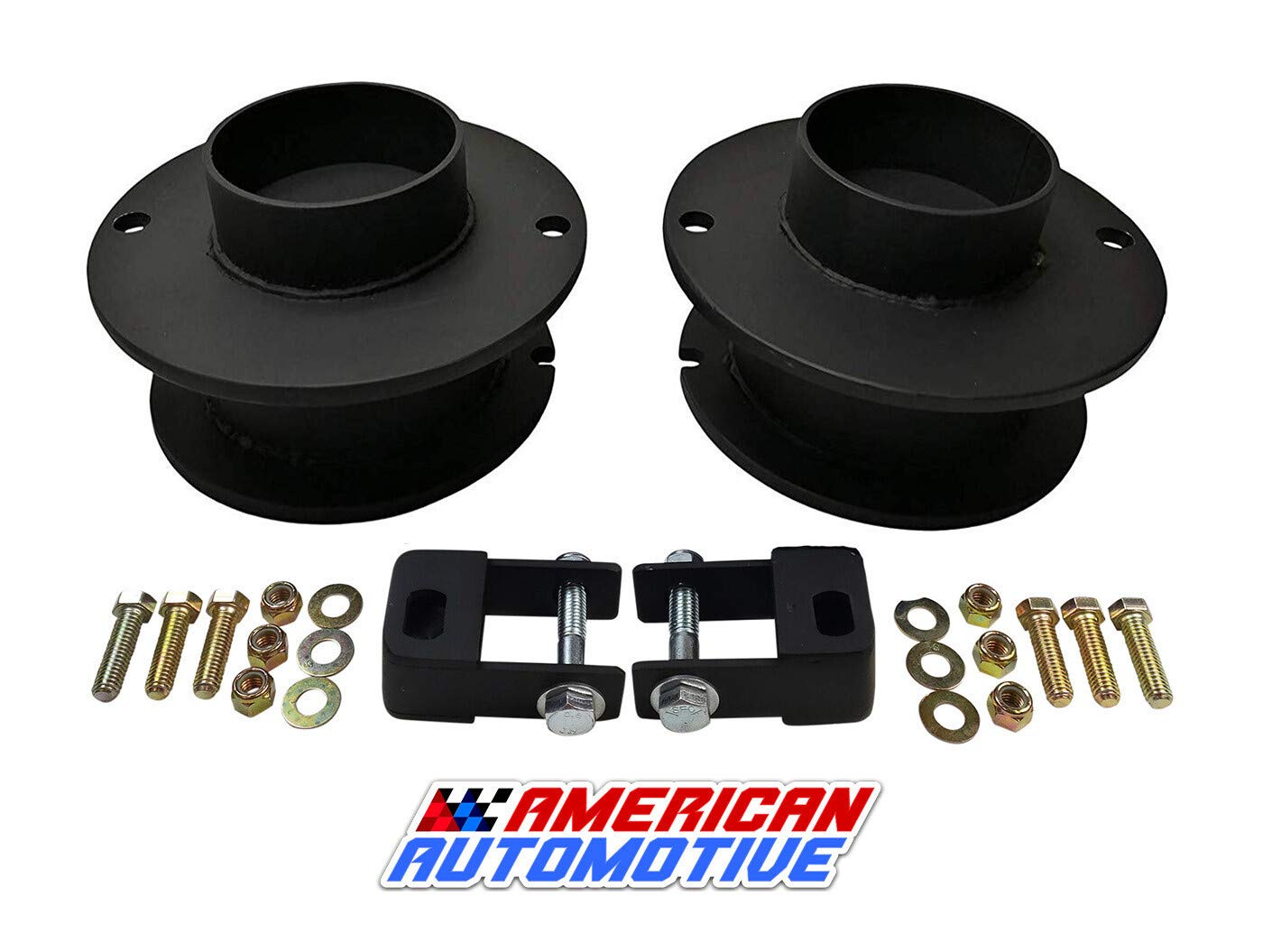 Shock Extenders American Automotive Front Lift Kit for Ram 2500 3500 2 4WD Front Steel Coil Spring Spacers