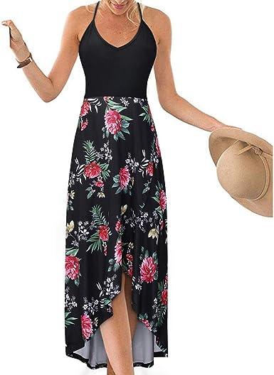UK Womens Ruffled Sleeve V Neck Summer Floral High Split Maxi Dress Kaftan Abaya