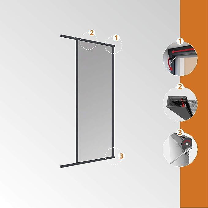 Windhager Puerta Enrollable, mosquitera, acortable Individualmente, 160 x 225 cm, Antracita, 03895: Amazon.es ...