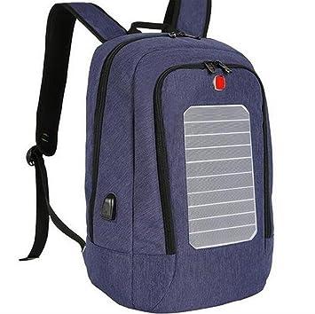 WDGT Mochila solar mochila de senderismo con energía solar ...