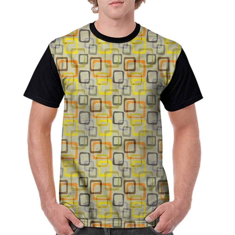 BlountDecor Trend t-Shirt,Beveled Rectangles Fashion Personality Customization