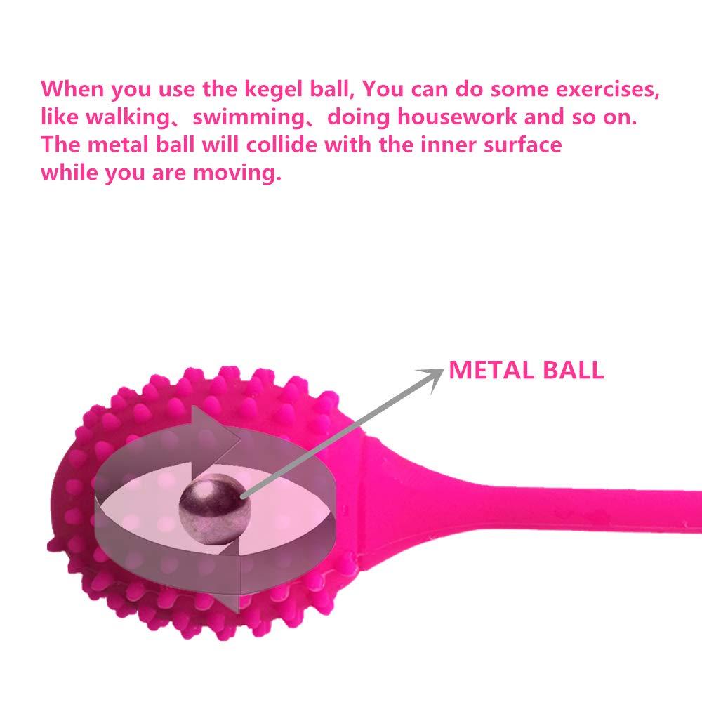 LYEASY Pesas De Ejercicio De Para Kegel Balls - Ejercicios Para De El Control De La Vejiga Y El Piso Pélvico - Vagina Ball PC Muscle Tighten Exercise,Red cfc9b7