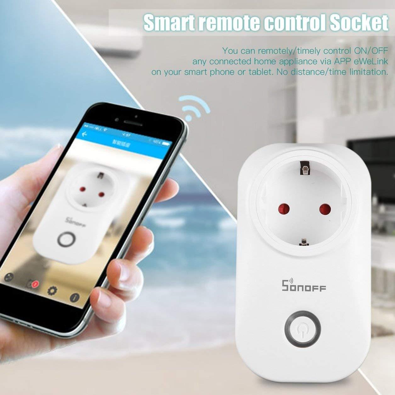 Presa per telecomando di Sonoff S20 Smart Home Wifi presa di alimentazione tramite telefono App Dailyinshop