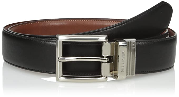 Tommy Hilfiger Men's Dress  Reversible Belt with Polished Nickel Buckle,  Size 32