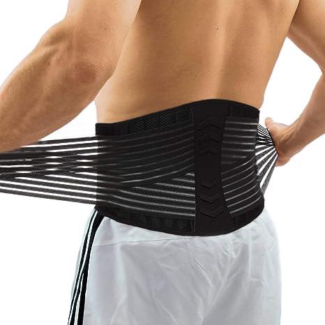 Fittoo - Cinturón de apoyo lumbar para la espalda con correas de ...