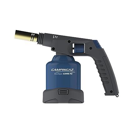Camping Gaz Soudogaz X200 PZ - Pistola de soldadura (1750 °C, consumo de gas 120 g/h, 380 g), color azul y negro