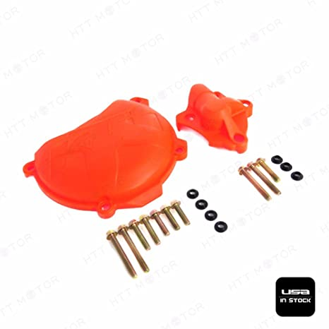 XKMT Group Clutch Cover Protection Guard Water Pump Protector For KTM 350 EXC-F SIX