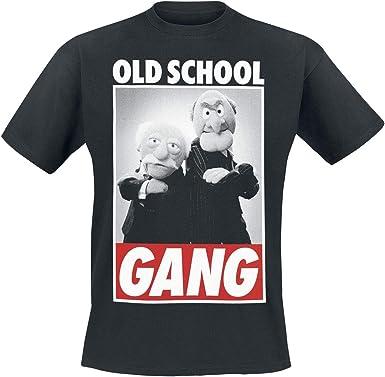 Muppets Camiseta Hombre Old School Gear Waldorf & Statler Algodón ...