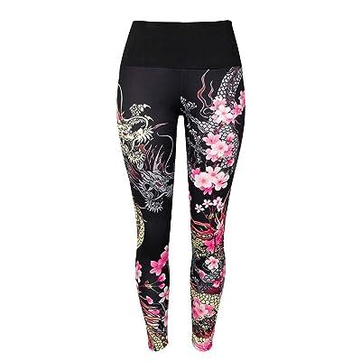 ADELINA Leggings Mujeres Damas Alta Cintura Pantalones Leggings Imprimir Deportivos Yoga Moda Completi Correr Fitness Leggings Pantalones Deportivos: Ropa y accesorios