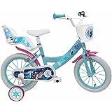"""Denver Bike Frozen, 16"""" Niñas Ciudad 16"""" Acero Azul, Blanco bicicletta - Bicicleta (16"""", Vertical, Ciudad, 40,6 cm (16""""), Acero, Azul, Blanco, 40,6 cm (16""""))"""