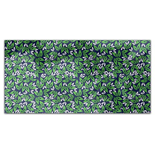 Leaf On Leaf Rectangle Tablecloth: Medium Dining Room Kitchen Woven Polyester Custom Print by uneekee