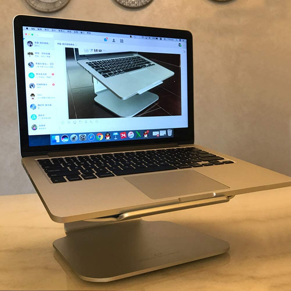 Giow Aluminum Steady Laptop Holder Stand Luxury Style Portable Notebook PC Stand Fit 12-15.6 Inch Notebook