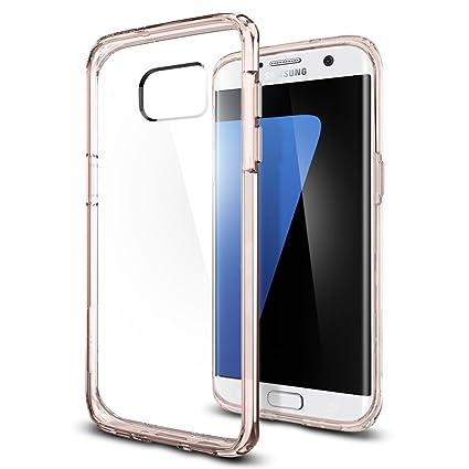 newest collection 27182 5fa41 Galaxy S7 Edge Case Clear, Spigen Ultra Hybrid - Air Cushioned Hybrid Drop  Protection Clear Case for Samsung Galaxy S7 Edge 2016 - Rose Crystal