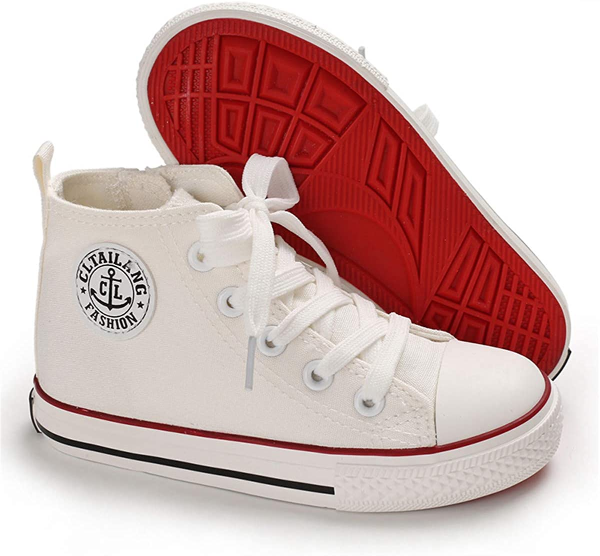 Toddler//Little Kid//Big Kid BENHERO Kids Boys Girls Canvas High Top Gym Shoes Trainers Sneakers