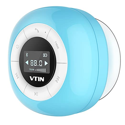 Shower Speaker, VTin Bluetooth 4.0 Speakers Shower Radio With FM,  Waterproof Shower Speaker With