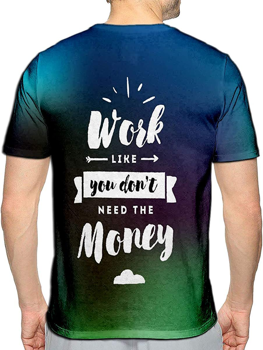Randell 3D Printed T-Shirts Life Begins After Coffee Quote Short Sleeve Tops Tees