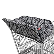Skip Hop Compact 2-in-1 High Chair/Shopping Cart Cover, Zig Zag Zebra, Multi