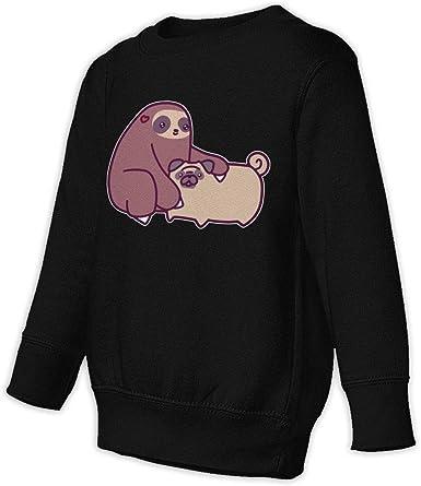 NMDJC CCQ Sloth and Pug Baby Sweatshirt Adorable Kids Hoodies Soft Pullovers
