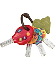 B. toys – LucKeys – 4 Textured Toy Keys for Babies and Toddlers – Flashlight and Car Sounds – 100% Non-Toxic and BPA-Free
