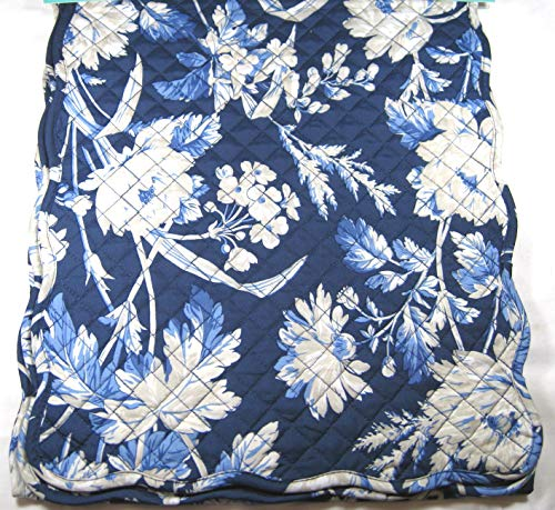 Waverly Home Quilted Floral Table Runner Blue 13