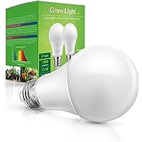 Grow Light Bulb Indoor Grow Light, WEEGrow Full Spectrum Plan Light Bulb, E26 Base 11W 230V Grow Light for Indoor Plants…
