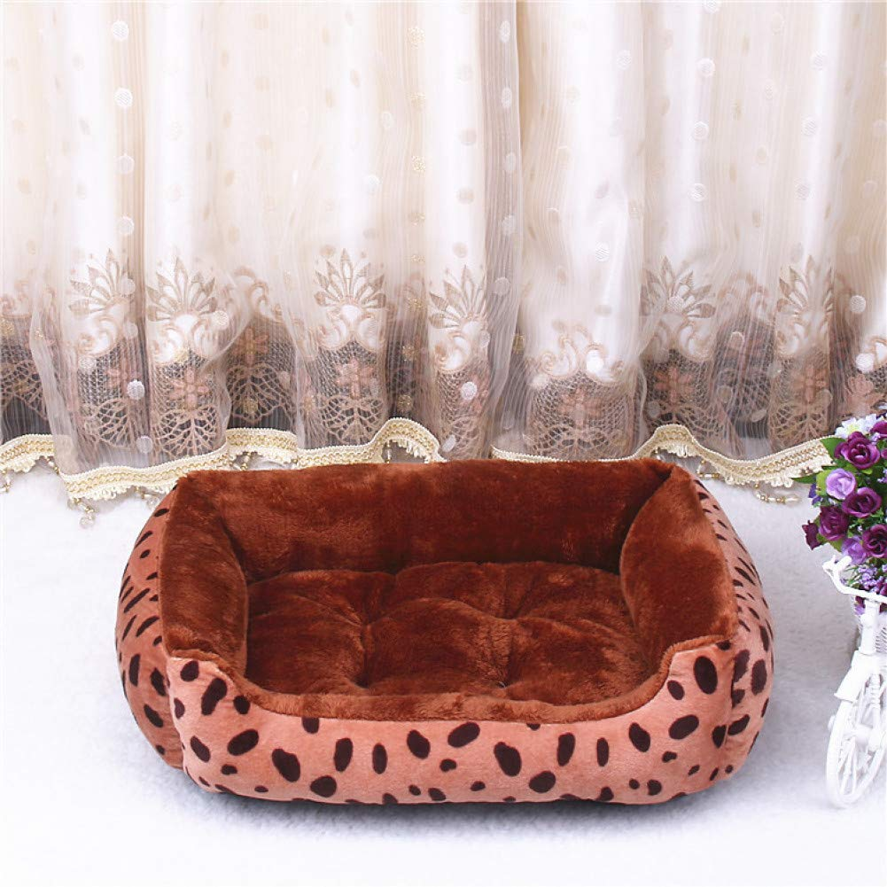 Light brown L 70x52x15cm CZHCFF Plus Size Dog Bed Mattress Thickening Warm Pet House Nest for Large Dogs Small Dog Bull Terrier Pug Winter Pet Products