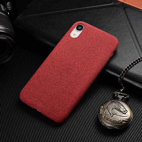 - Maxlight Candy Colors Cotton Fabric Cloth Cases for iPhone 7 8 Plus Soft Slim Canvas Back Cover for iPhone Xs Max Leather Phone Case (C, for iPhone X XS)