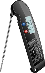 Digital Meat Thermometer, Instant Read Folding Kitchen Thermometer Food Electronic Thermometer with Long Probe for Cooking Kitchen BBQ