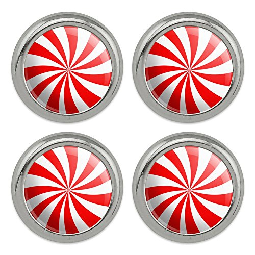 (Peppermint Swirl Metal Craft Sewing Novelty Buttons - Set of 4)