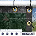 Windscreen4less Heavy Duty Privacy Screen Fence in Color Solid Green 4' x 50' Brass Grommets w/3-Year Warranty 130 GSM (Customized Sizes Available)