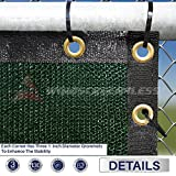 Windscreen4less Heavy Duty Privacy Screen Fence in Color Solid Green 6' x 50' Brass Grommets w/3-Year Warranty 140 GSM (Customized Sizes Available)