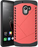 Heartly Hybrid Slim Dual Layer Hard Rugged Armor Bumper Back Case Cover For Lenovo K4 Note - Cute Pink